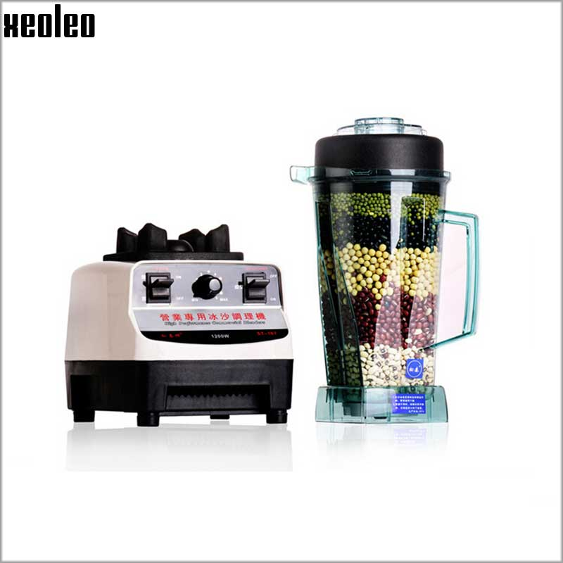Xeoleo Commercial Blender Mixer 1200W Food Machine 2L PVC Cup Juicer Blender for Bubble tea ship Fruit$Vegetable Blender Machine xeoleo 2l heavy duty commercial blender food greater material 2000w food processing machine with pc jar juicer mixer bpa free