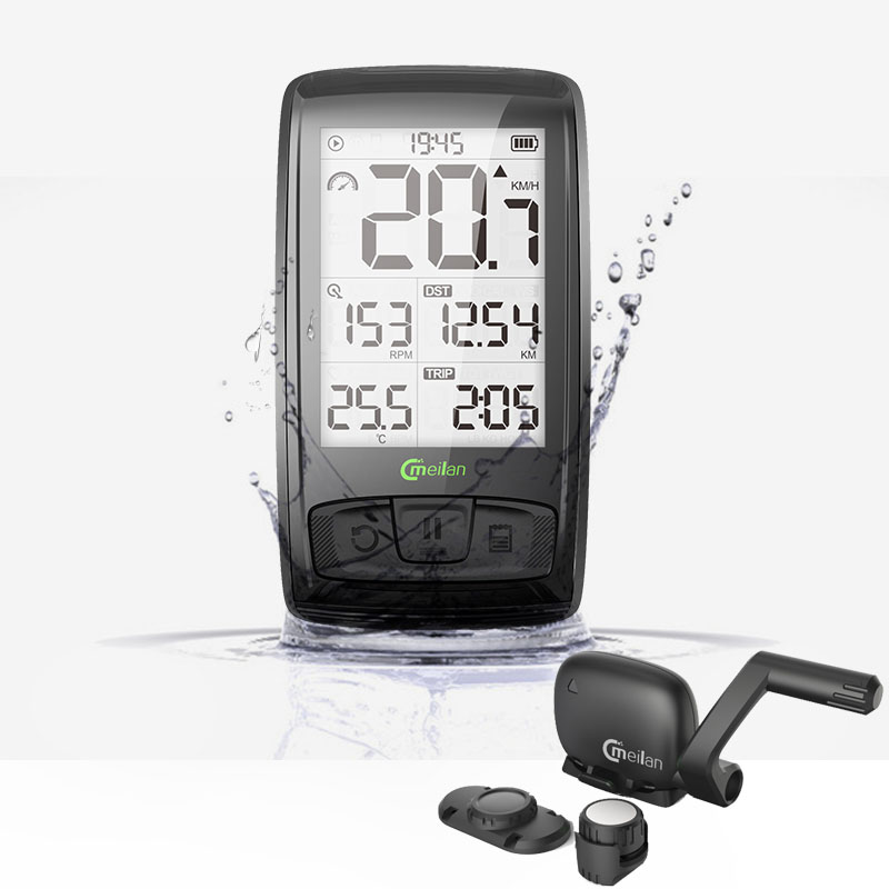 <font><b>Bike</b></font> Wireless 2.5 inch Computer <font><b>Bluetooth</b></font> BT4.0 bicycle Speedometer with Speed + <font><b>cadence</b></font> data support Heart Rate Monitor