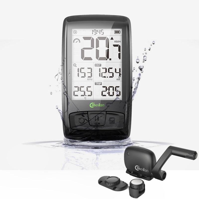 Bike Computer 2.5-inch Cmeilan M4 BT4.0 Wireless Speed + cadence data support Bluetooth wireless support Heart Rate Monitor прогулочные коляски cam curvi