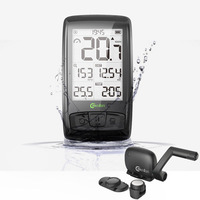 Bike Wireless 2.5 inch Computer Bluetooth BT4.0 bicycle Speedometer with Speed + cadence data support Heart Rate Monitor