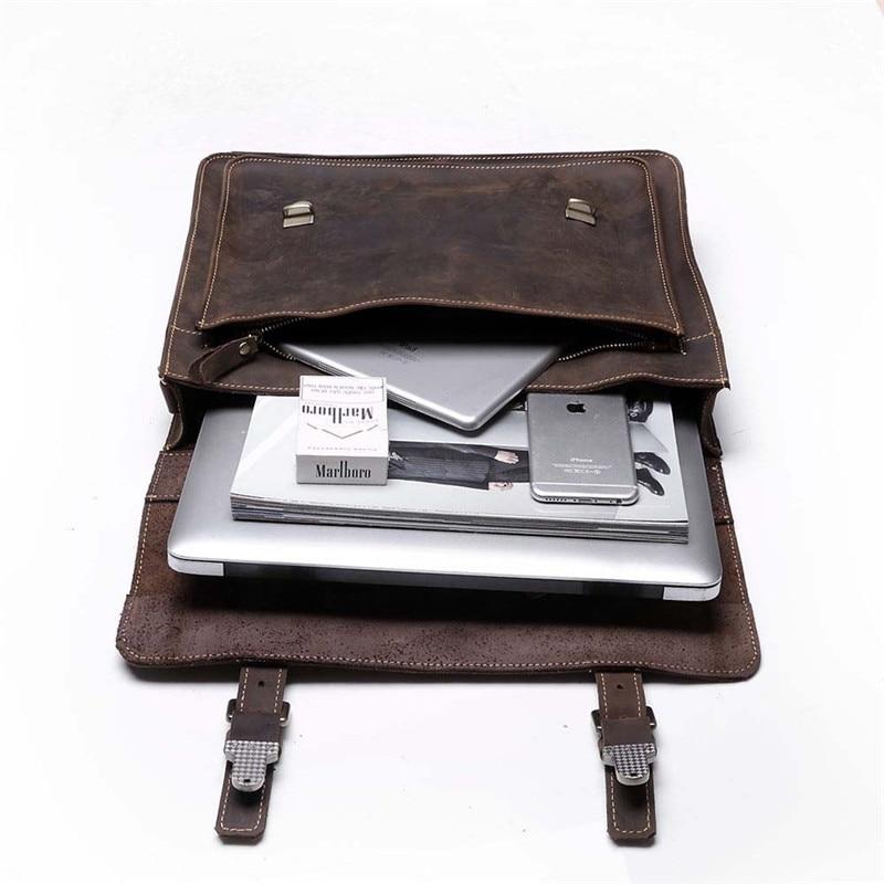 vintage Único bolsa laptop briefcase Tipo de Fecho : Zíper e Fecho