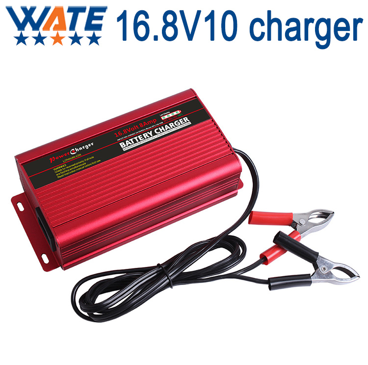 ФОТО Lithium battery 16.8V 10A smart charger fully automatic 4 stage charging full off LED display With cooling fan Free Shipping