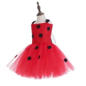 Image 2 - Girls Ladybug Costume Baby Girl Birthday Party Tutu Dress Kids Halloween Lady bug Costume Outfit Ladybird Girls Fancy Dress
