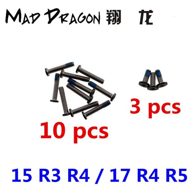 MAD דרקון מותג מחשב נייד תחתון גישה פנל דלת כיסוי 10 יחידות בורג/צירים כיסוי 3 יחידות בורג עבור Dell ALIENWARE 17 R4 R5/15 R3 R4