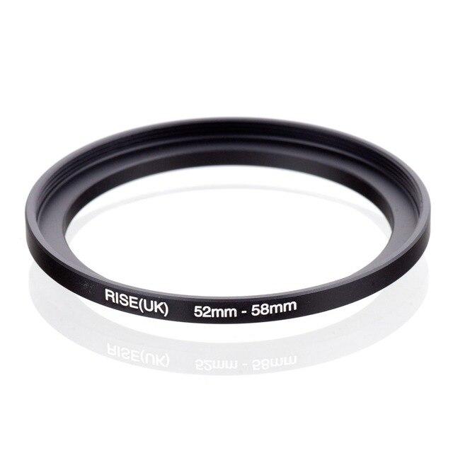 Оригинальный черный повышающий кольцевой фильтр адаптер RISE (Великобритания) 52 мм 58 мм 52 58 мм от 52 до 58