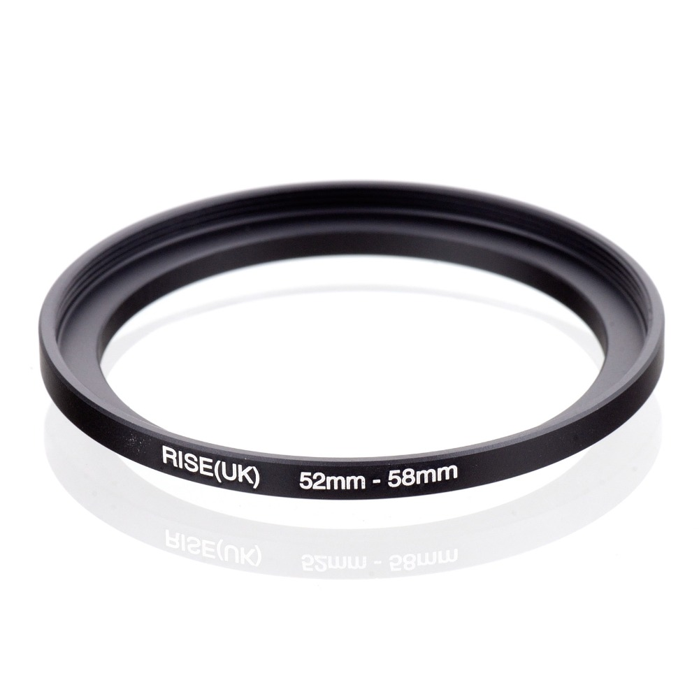 original RISE(UK) 52mm-58mm 52-58mm 52 to 58 Step Up Ring Filter Adapter black free shipping кольцо fujimi frsu 4952 step up 49 52mm