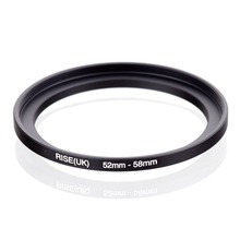 original RISE(UK) 52mm 58mm 52 58mm 52 to 58 Step Up Ring Filter Adapter black