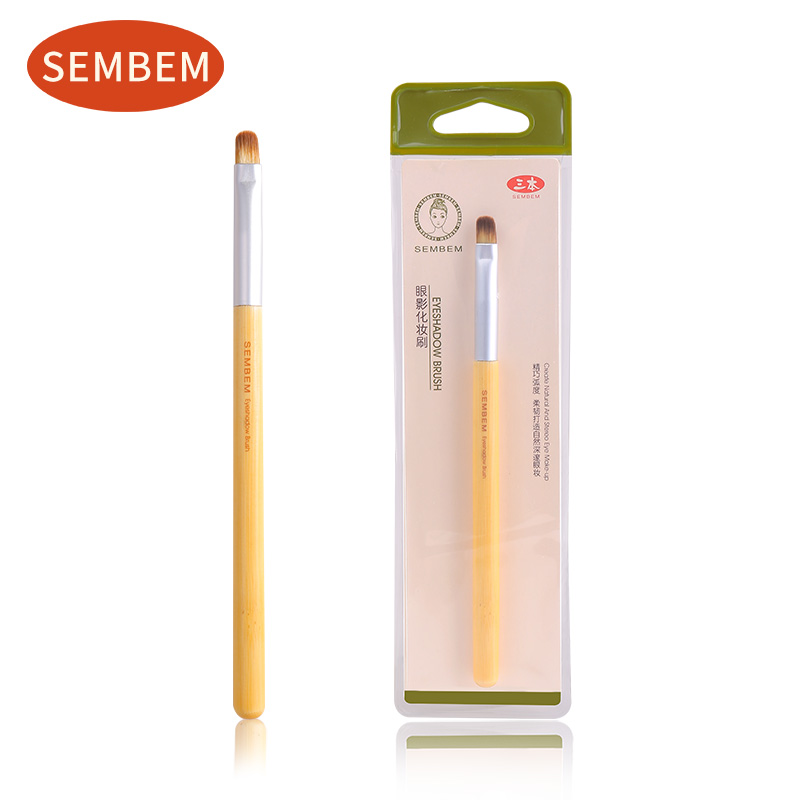 SEMBEM Soft Eye Shadow Brush Professional Eyeshadow Makeup Eye Color Cosmetic Make Up Brushes Synthetic Hair Wood Handle Brush