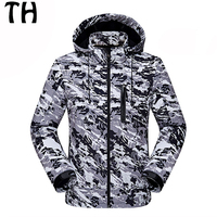 Breathable Waterproof Thermal Fleece Softshell Jackets Men Windbreaker Camouflage Military Tactical Coats 170225