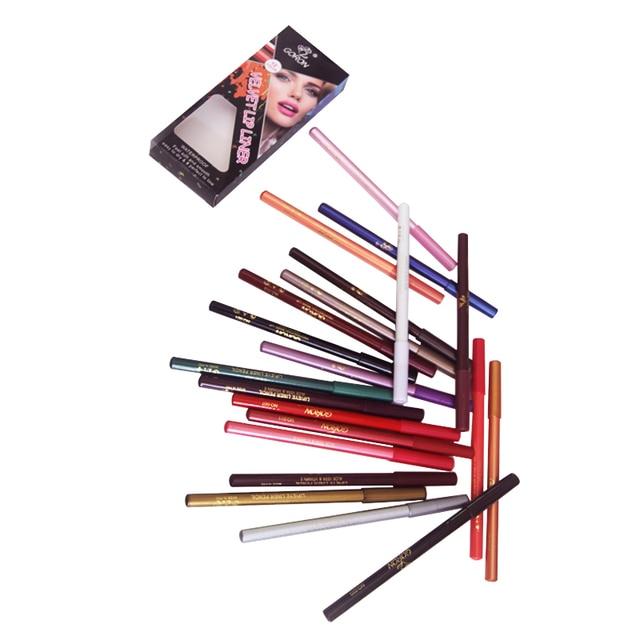 GORON 12Pcs/Box  Lip Liner Pencil Waterproof Lipliner Contour Cosmetics Makeup Lips Set Lip Pencil Matte Women Eyebrow JA029 4