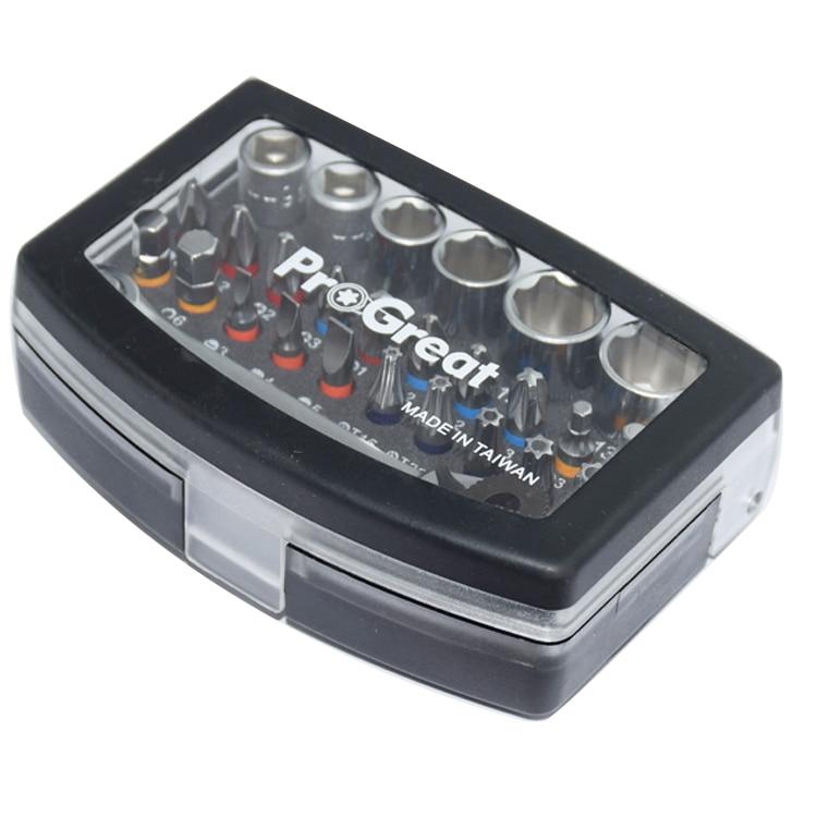 28PCS Industrial Mini socket ratchet wrench set 1/4 socket set screwdriver head Auto Repair tools S2 material