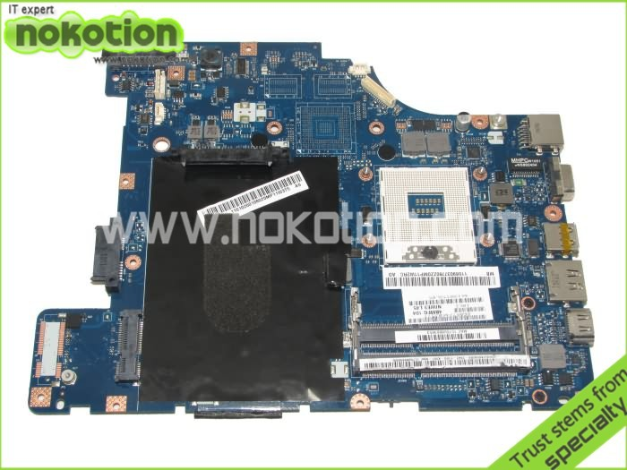 NOKOTION laptop motherboard for lenovo g460 LA-5751P intel hm55 gma hd ddr3 nokotion laptop motherboard for lenovo g570 la 675ap mainboard intel hp65 ddr3 socket pga989