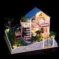 Творческий СДЕЛАЙ САМ Кукольный Дом с Мебелью, большой Размер Сборки Модели Комплект Романтический Любовник Мечта Кукольный Детские Игрушки