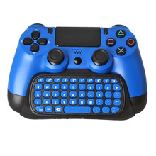 PS4 Slim Pro Joystick Mutilfunction Bluetooth Mini 2.4G Wireless Chatpad Message Keyboard for Sony Playstation 4 Controller(China)