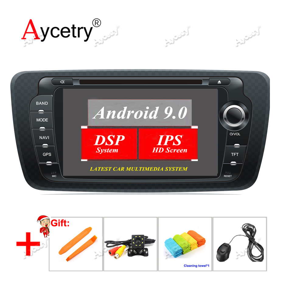 Aycetry! DSP IPS SCREEN 7'' 2 din Android 9.0 Car DVD player multimedia autoradio AUDIO For SEAT IBIZA CAR RADIO GPS navigation