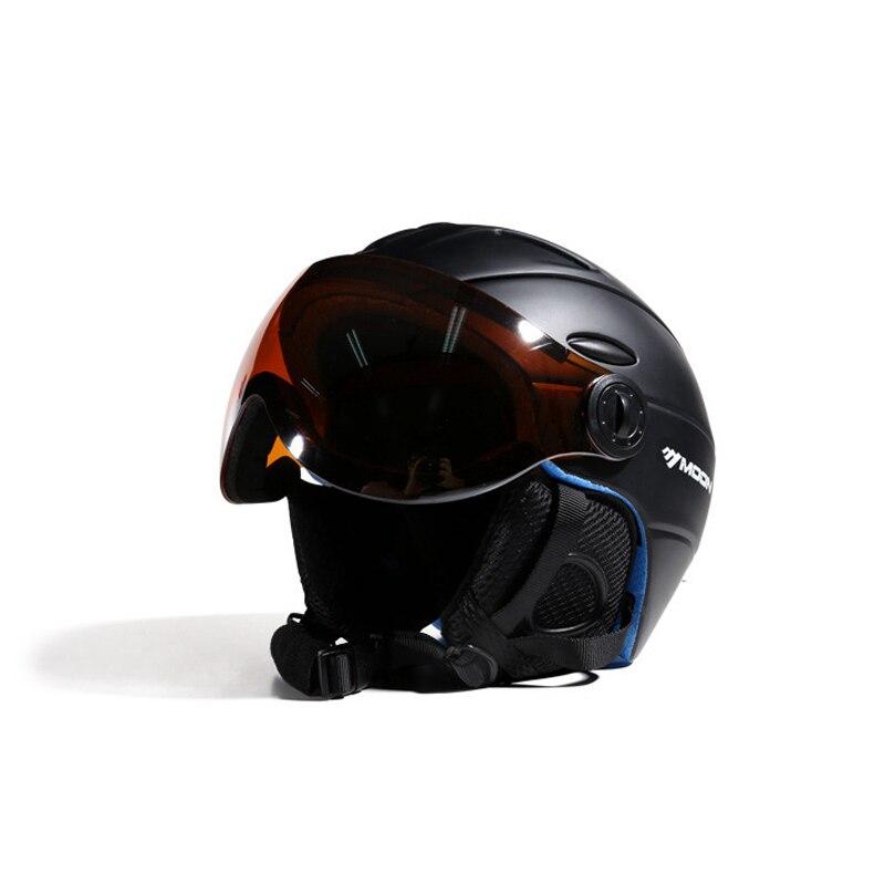 Esquí casco Anti-niebla transpirable ultraligero de esquí Snowboard casco para hombres mujeres Unisex casco de esquí, ciclismo