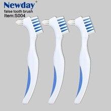 1 unidad de cepillo de dientes en forma de Y, cepillo de dientes doble dedicado para dentadura, cuidado bucal, cepillo de dientes azul para adultos