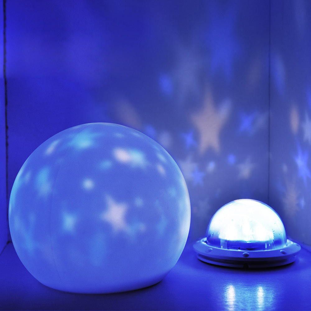 3 Colors Silicone Mushroom Lamp Star Light Star Sky Projector Luminaria Moon Lamp LED Night Light For Baby Kids Gift Home Decor