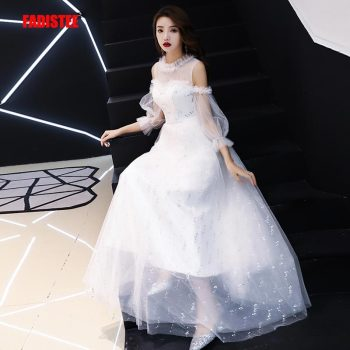FADISTEE New arrival elegant wedding party Dresses lace Vestido de Festa beads sequins sexy see through slit back long style