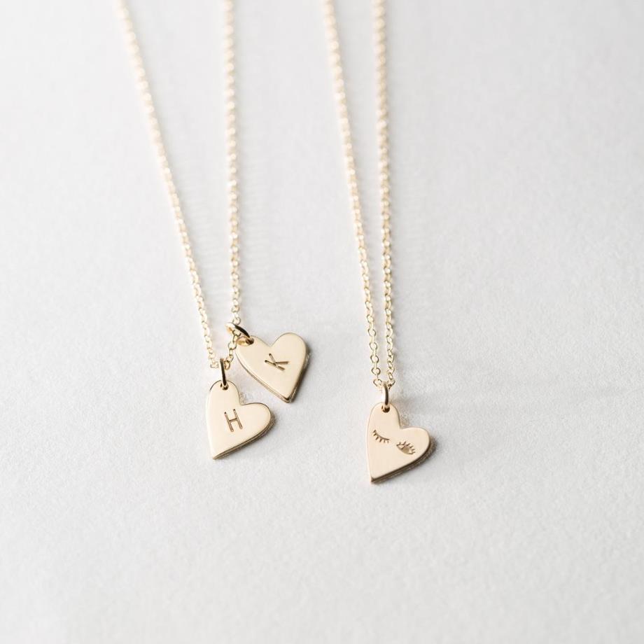 Personnalisé initiale coeur collier simple ou Double cœurs initiales symboles zodiaque mères enfants personnalisé or argent bijoux