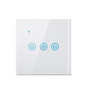 Image 4 - Wifi קיר מגע מתג האיחוד האירופי ניטראלי חוט הנדרש חכם אור מתג 1 2 3 כנופיית 220V חכם חיים בית תמיכה Alexa Google בית