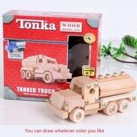 2017 Top Marca de Vehículo De Madera Bloques Assemblage Tornillo De Madera de Los Niños hecho a mano diy modelo de manual de construcción de juguetes para niños de 8 años o más