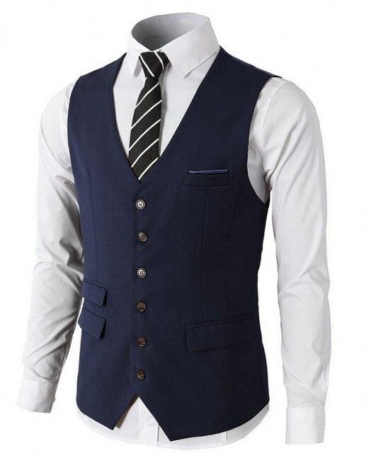 2932585bc0 Navy Borgoña negro novio Chalecos novio Esmoquin padrinos traje chaleco  slim fit mejor hombre traje de
