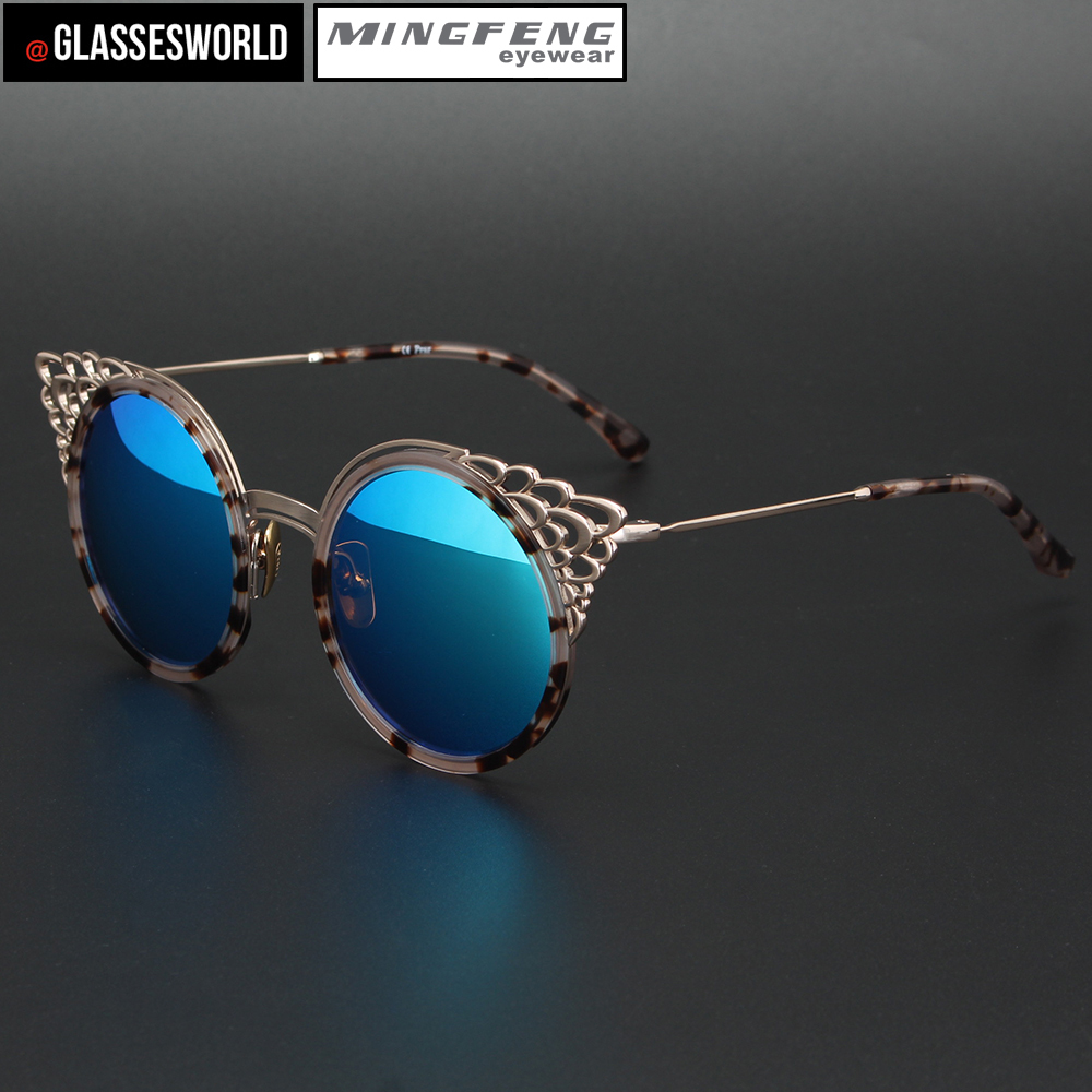 Women fashion butterfly sunglasses with high quality round retro UV sun glasses