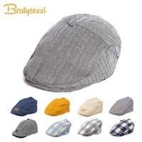 Mode Baby Hut Hübsche Baumwolle Leinen Baby Junge Kappe Barett Elastische Kinder Hut Baby Zubehör für 1-2 Jahre 3 farben