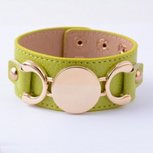 Monogram Leather Cuff Bracelet