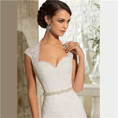 Newest Mermaid Wedding Gowns Sleeveless Lace Appliques Court Train Sexy Keyhole White Wedding Dresses Organza Matching In Colour Weddings & Events