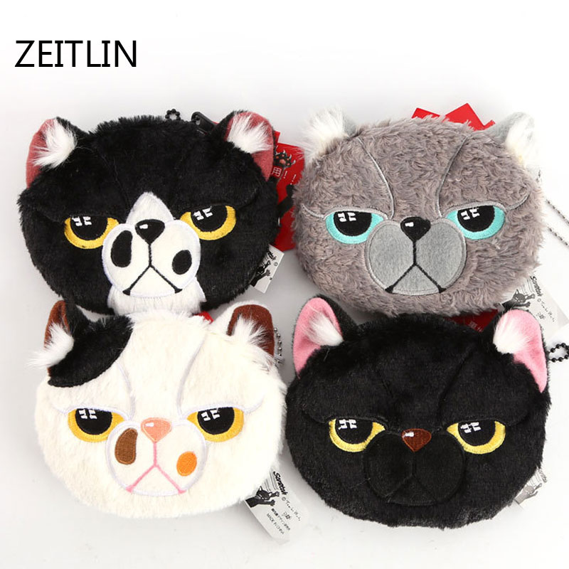 ZEITLIN Fashion coin purses women plush wallet female cute small card bag children boys girls gift for kid Mini Wallets T1380