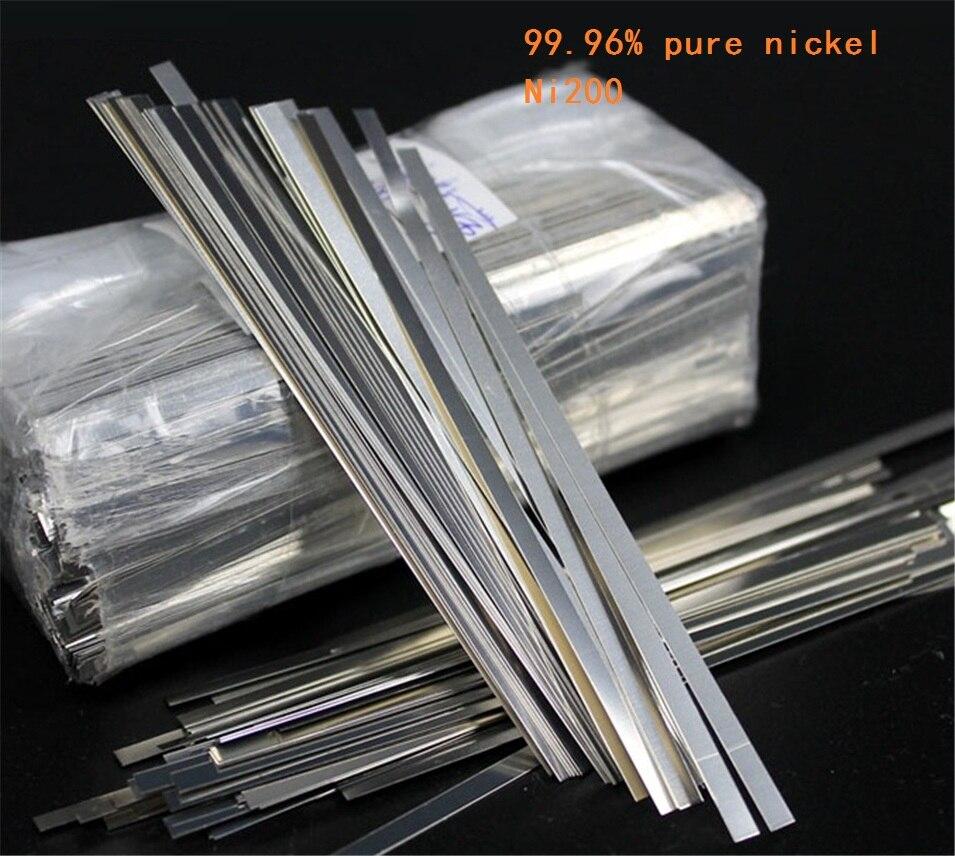 100pcs 0.1mm x 5mm x 100mm 99.96% Pure Nickel Plate <font><b>Strap</b></font> Strip Sheets pure nickel for <font><b>Battery</b></font> electrode Spot Welding Machine