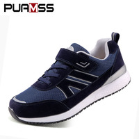 Men Shoes 2018 New Comfortable Walk S Elderly Safe Reflective Casual Shoes Parental Gift Breathable Men's Sneakers