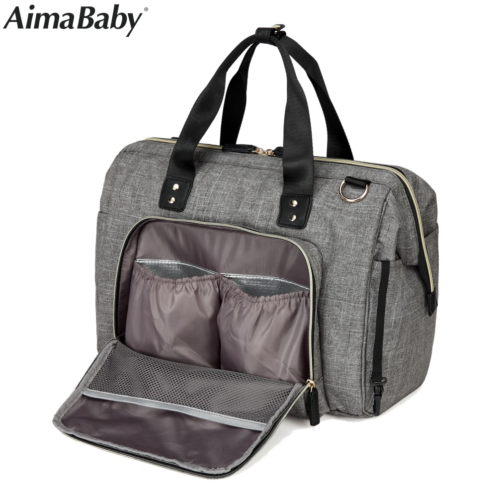 Aimababy Large Diaper <font><b>Bag</b></font> Organizer Brand Nappy <font><b>Bags</b></font> Baby Travel Maternity <font><b>Bags</b></font> <font><b>For</b></font> Mother Baby Stroller <font><b>Bag</b></font> Diaper Handbag