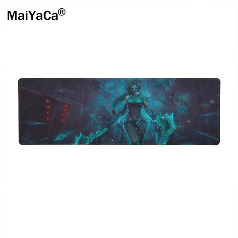 MaiYaCa Legal Jogo League of Legends Custom Design rectangle Gaming Computer Mouse pads 30x80cm big size ...