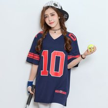 #1012 2016 Roupas feminina Harajuku Hip hop women Loose Baseball shirt Korean style tshirt femme Ladies tops Tee shirt