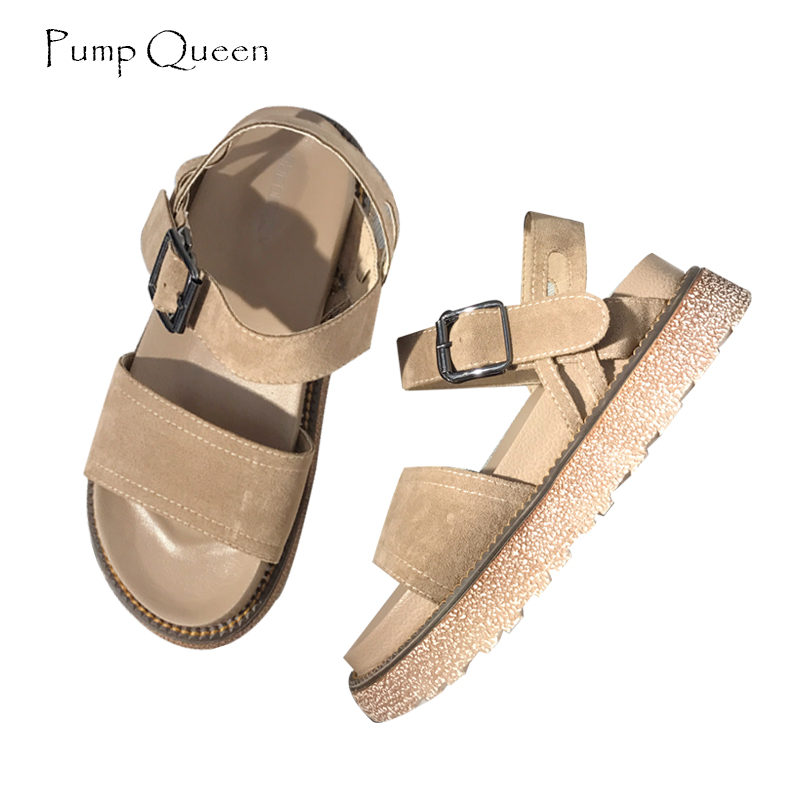 PumpQueen 2018 Summer Gladiator Sandals Women Shoes Casual Platform Sandals Solid Comfortable Sandals Women Sandalias Mujer gktinoo 2018 summer gladiator sandals women rivet wedges fashion women shoes casual comfortable platform female sandal