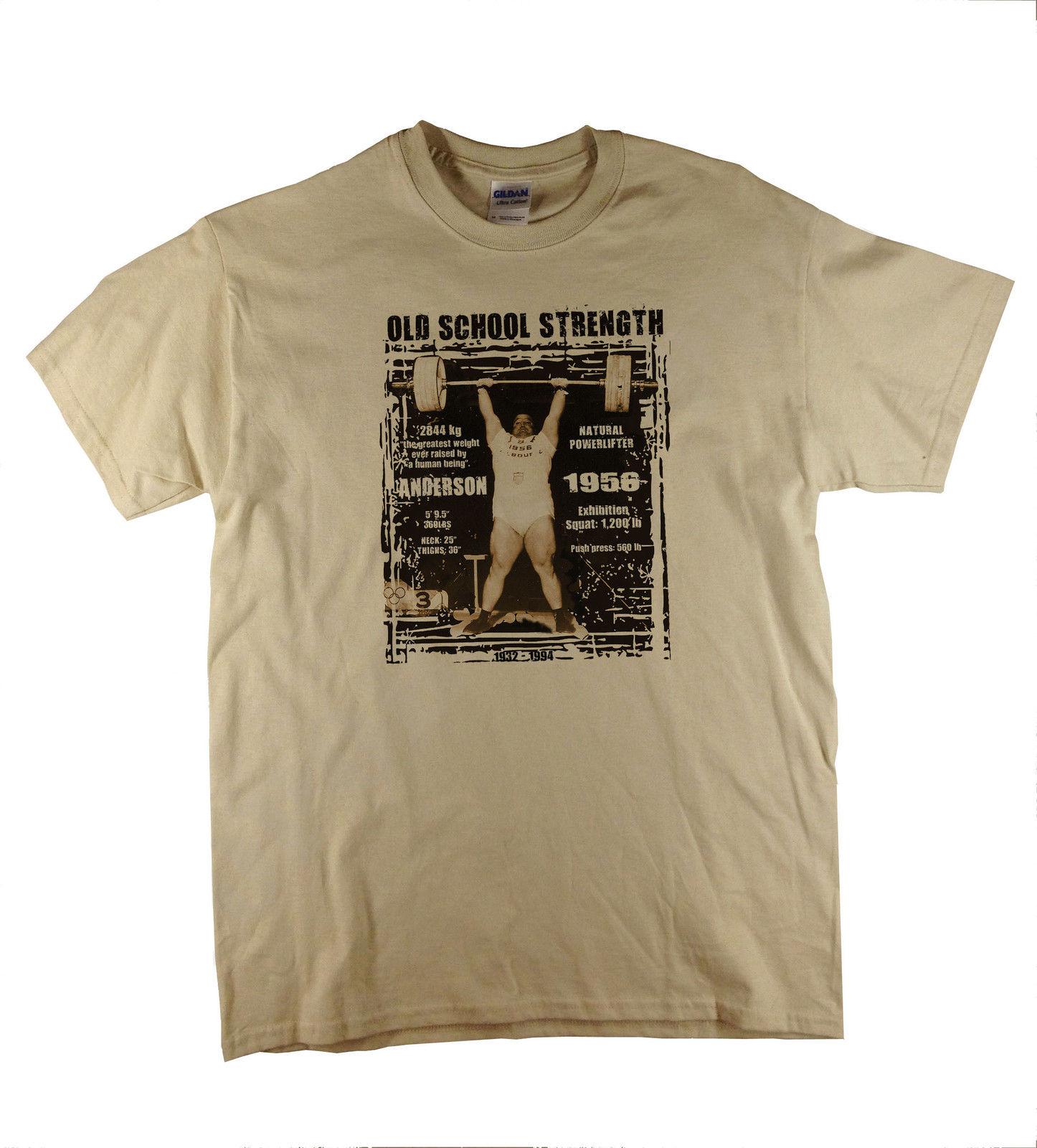 Vintage Strongman Power Lifting deadlift Anderson Motivational Natural T-Shirt  Harajuku Fashion Classic Unique free shipping