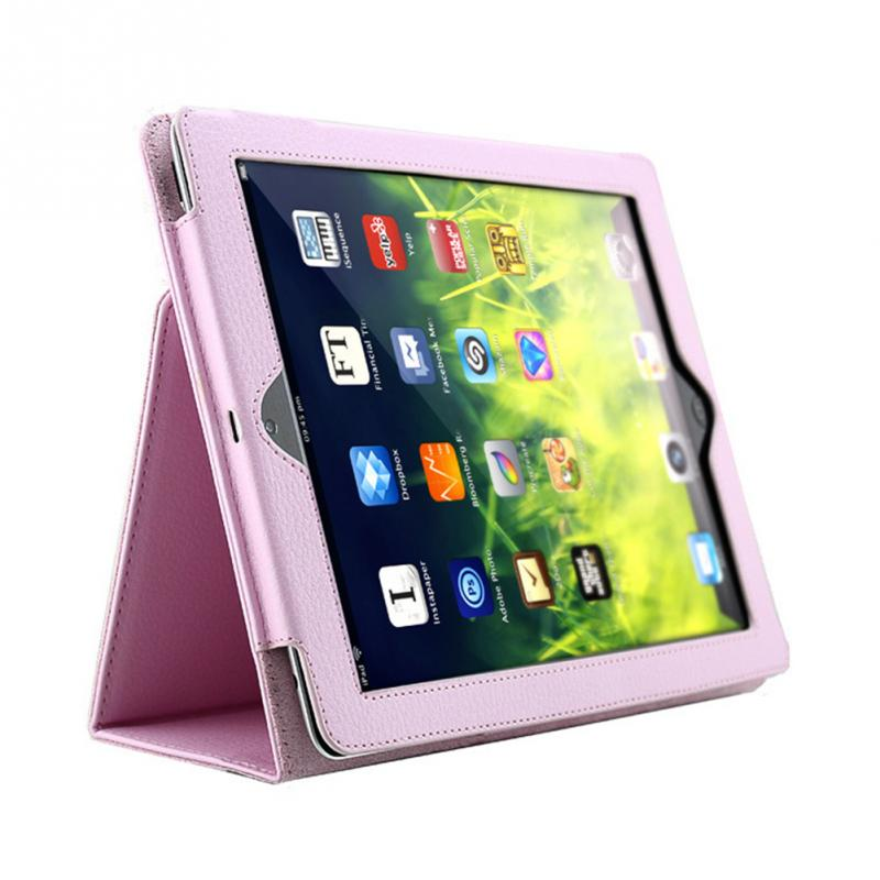 Smart Stand Holder Case For Apple ipad 2 3 4 Auto Sleep /Wake Up Flip Litchi PU Leather Cover For New ipad 3 ipad 4 dhl ems ups free 3 folder folio stand pu leather soft tpu silicon flip auto sleep cover case for apple ipad pro 9 7 tablet