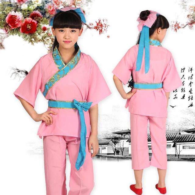 Niños felices de trajes Hanfu traje traje de antiguo traje académico Readboy discípulo trajes