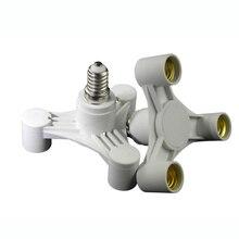 High Quality 3 In 1 E27 To E27 Base Socket Splitter LED Light Lamp Bulb Adapter Holder For Photo Studio