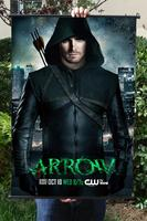 Green Arrow HD Game Movie Wall Scrolls Poster Bar Cafes Home Decor Banners Hanging Art