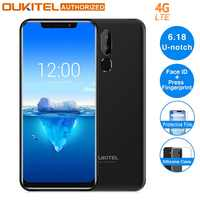 OUKITEL C12 Pro 6.18 inch 19:9 4G Smartphone Phablet Android 8.1 Quad Core 2G RAM 16G ROM Fingerprint Face ID Mobile Phone