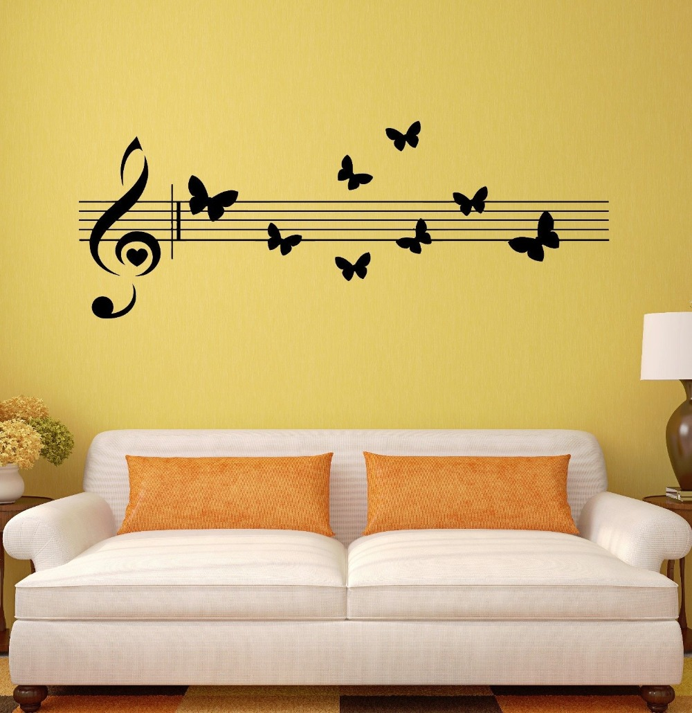 Dorable Metal Music Notes Wall Decor Mold - The Wall Art Decorations ...