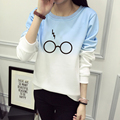 Harry Potter Óculos Imprimir Camisola Com Capuz Mulheres O-pescoço Das Mulheres de Inverno Casuais Camisola de Manga Comprida Hoodies Treino JBW-21568