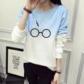 Harry Potter Glasses Print Sweatshirt Women Hoodie O-Neck Winter Women Sweatshirt Casual Long Sleeve Tracksuit Hoodies JBW-21568