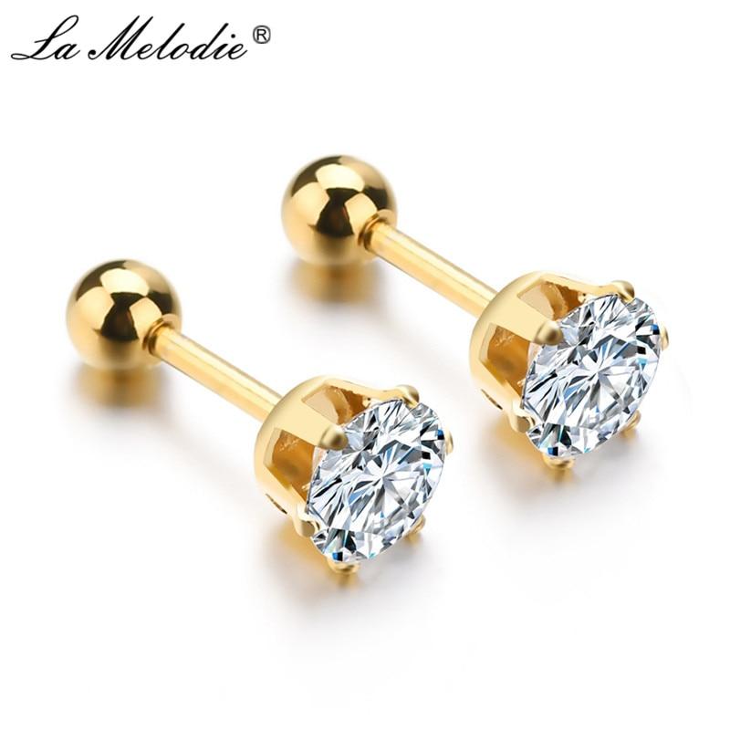 PiercingJ 6pcs Polished Stainlss Steel Hinged Small Hoop Earrings//Stud Earring 3mm 4mm Wide