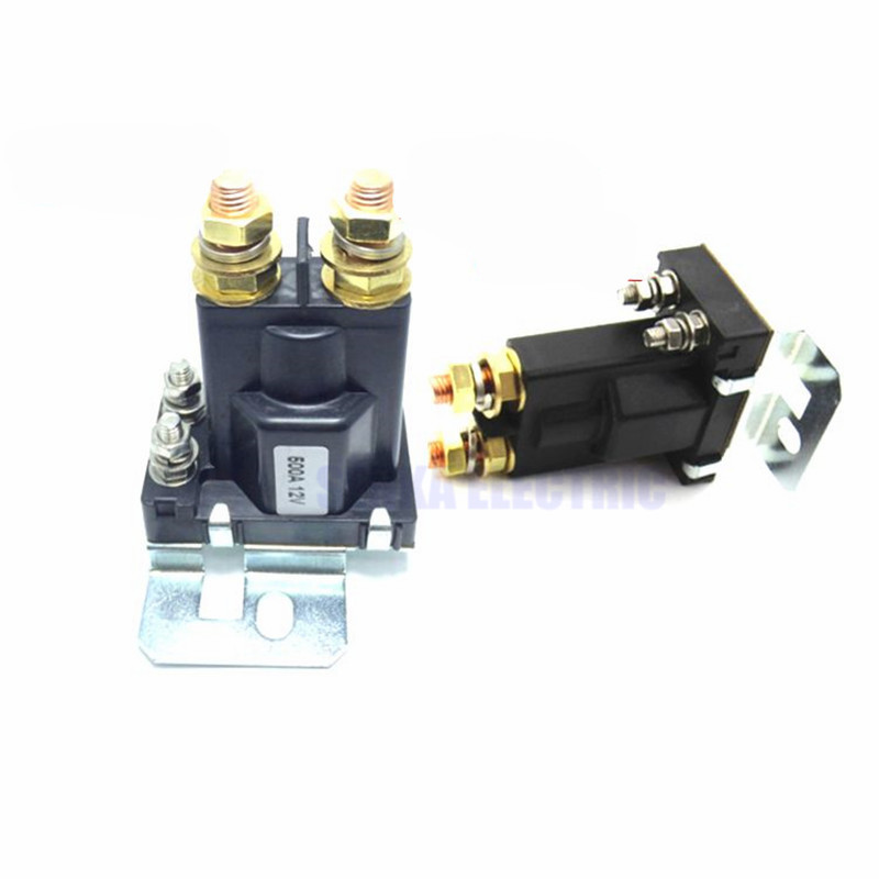 Automobile Car Start Relay 4 Pin 500A 12V 24V For Car Power Switch 12v 24v 30 40 a amp 4 pin 4p wire 5p 5 pin automotive auto harness car relay switch socket