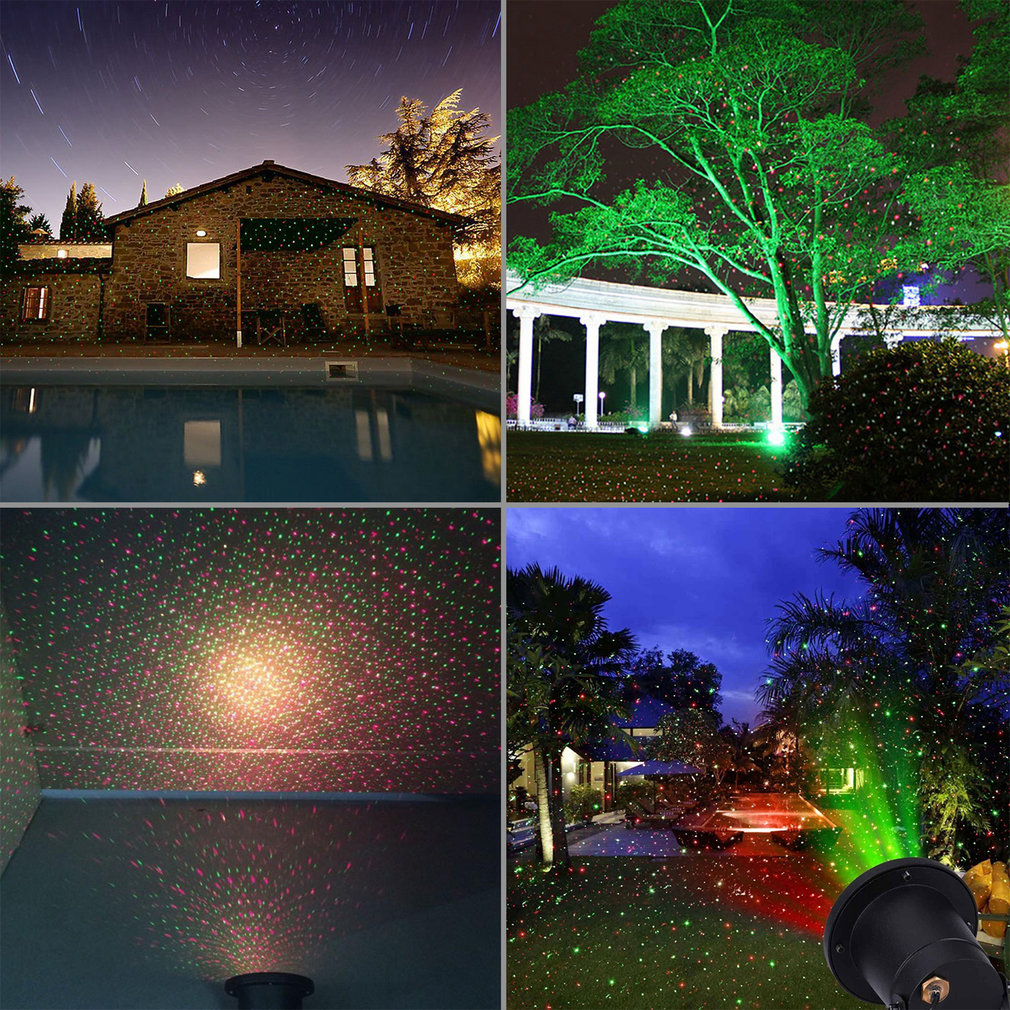 Uniek Ontwerp Aluminium IP67 Outdoor Waterdichte Mini Laserlicht 3 Kleuren LED Lamp DJ Thuis Didco Partijen Licht Decoratie - 3